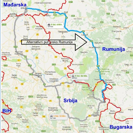 Alternativni Put Do Istocne Srbije Preko Rumunije